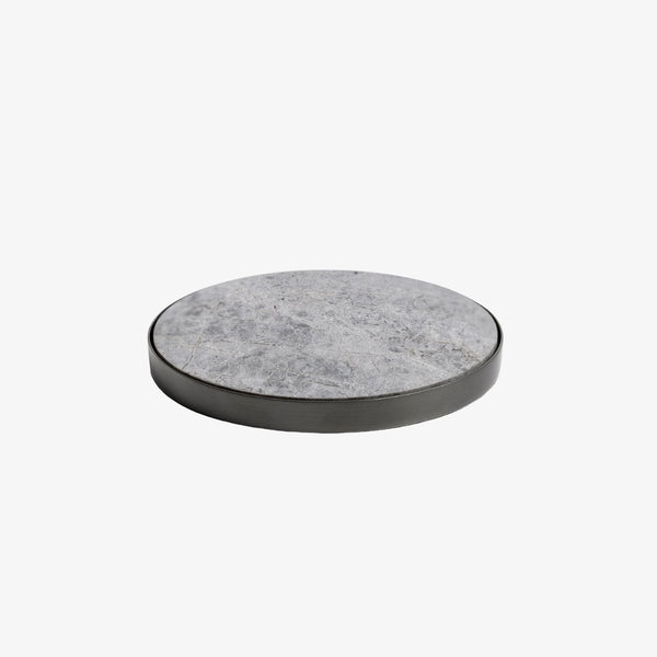 Geo Coasters | Black Nickel & Grey Tundra | Set Of 4 Coaster Behr & Co