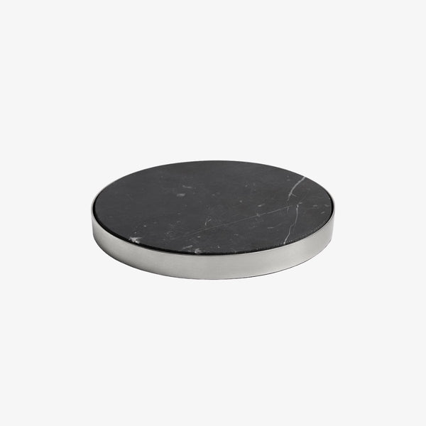 Geo Coasters | Brushed Nickel & Nero | Set Of 4 Coaster Behr & Co