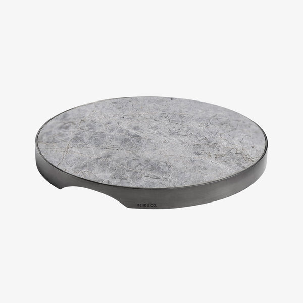 Geo Grazing Board Round | Black Nickel & Grey Tundra Serving Board Behr & Co