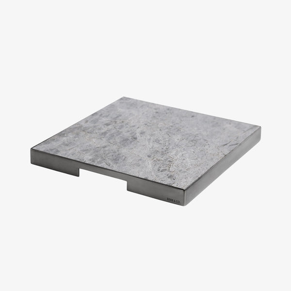 Geo Grazing Board Square | Black Nickel & Tundra Grey Serving Board Behr & Co