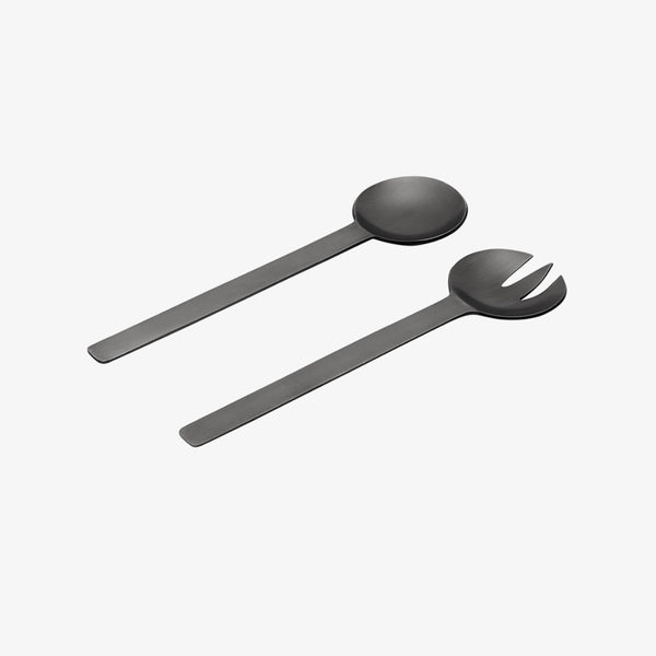 Geo Salad Servers | Black Nickel Salad Servers Behr & Co