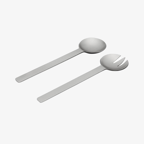 Geo Salad Servers | Brushed Nickel Salad Servers Behr & Co