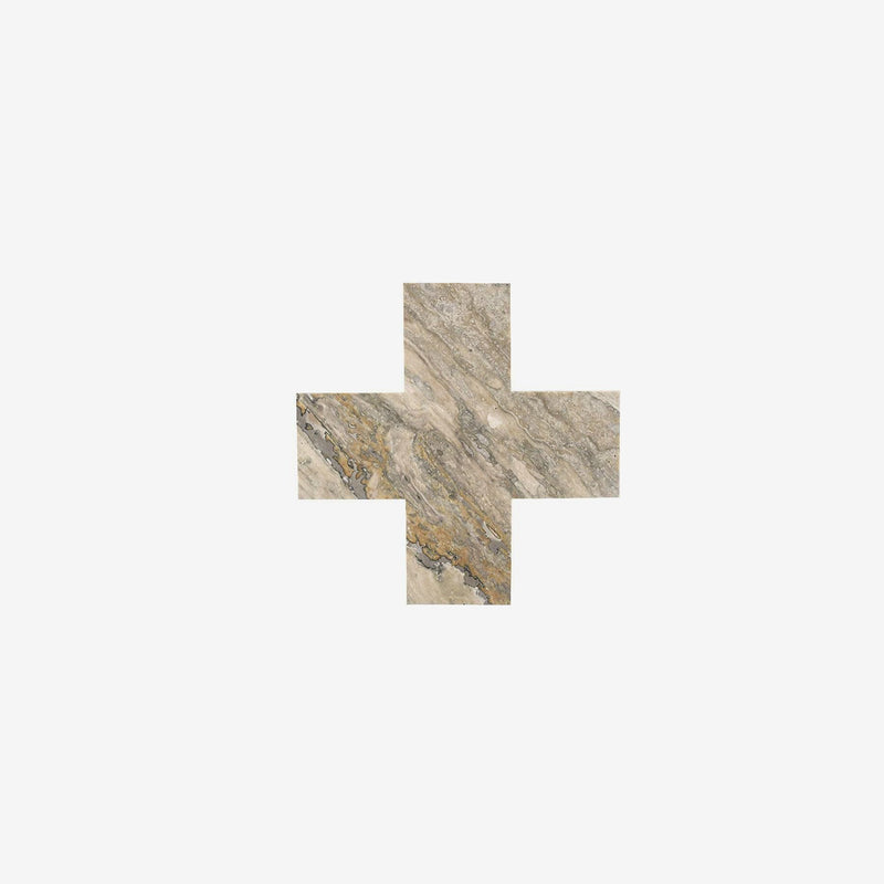 Marble Cross Trivet | Limited Edition | Travertine Trivet Behr & Co