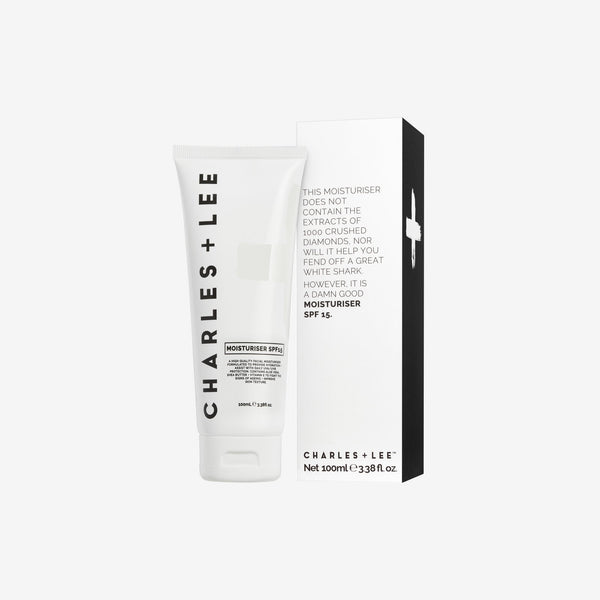Moisturiser SPF15+ 100ml Face Moisturiser Charles and Lee