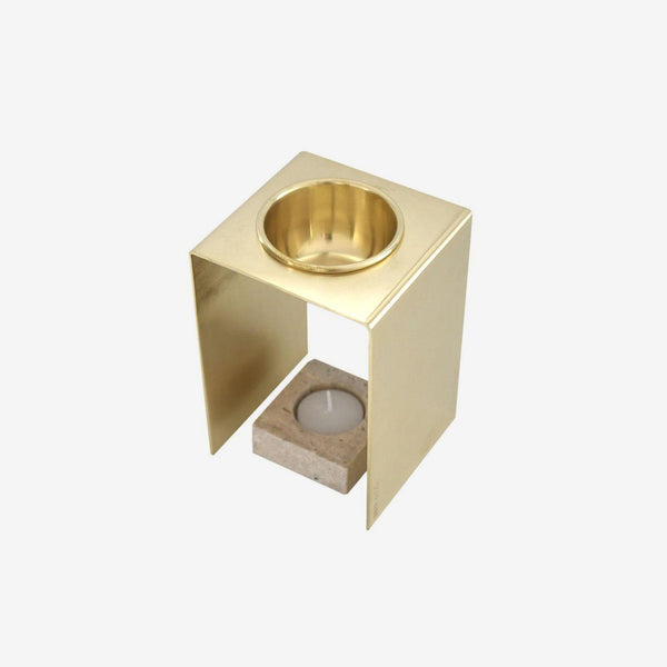 Oil Burner | Brass | Travertine Oil Burner Behr & Co