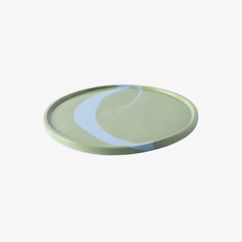 Splash Plate | Green with Blue R L Foote Design Studio