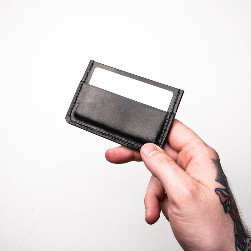 The Archer | Black Glazed and Black Thread Card Holder Dear Dagger