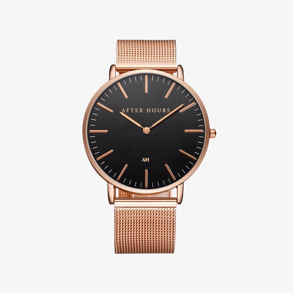 The Classic | Rose Gold and Black Watches After Hours Watches