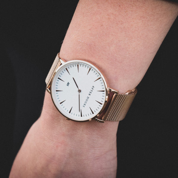 The Classic | Rose Gold and White Watches After Hours Watches