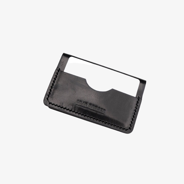 The Hunter | Black Glazed and Black Thread Bifold Dear Dagger