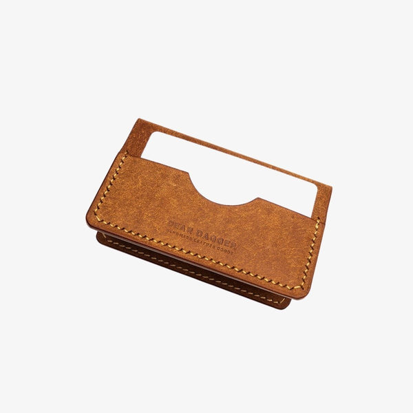 The Hunter | Cognac and Gold Thread Bifold Dear Dagger