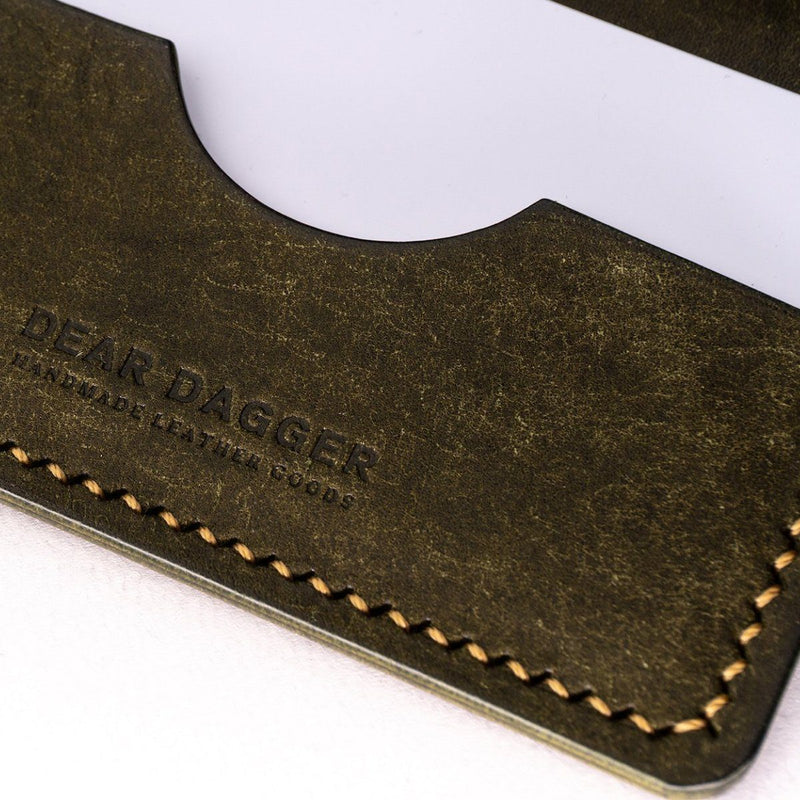 The Hunter | Olive and Gold Thread Bifold Dear Dagger