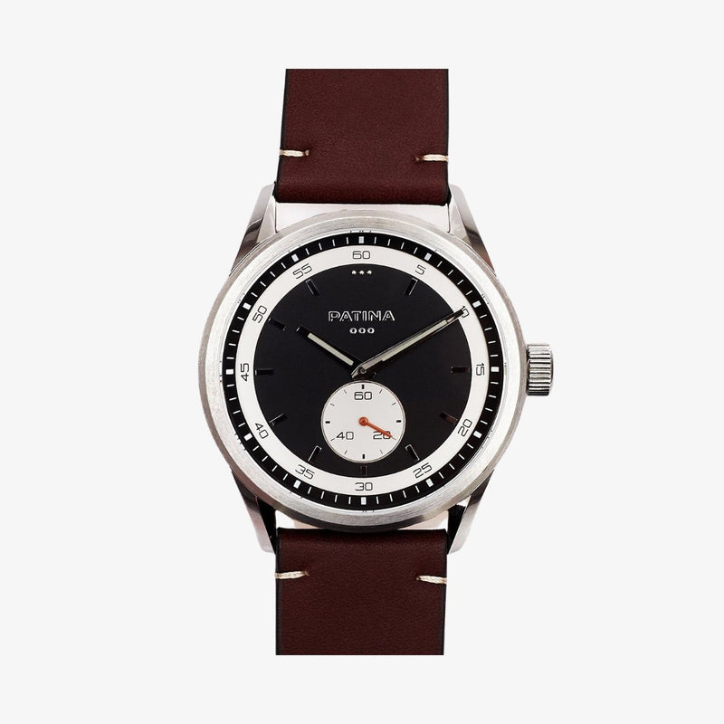 The Rambler | Black and Brown Leather watches Patina Watch Company
