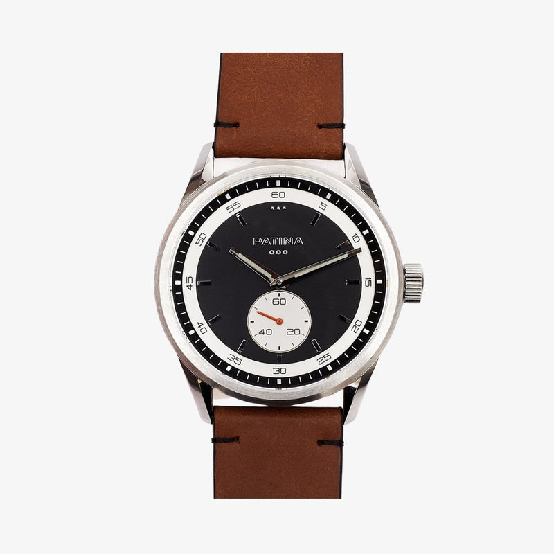 The Rambler | Black and Tan Leather Watches Patina Watch Company