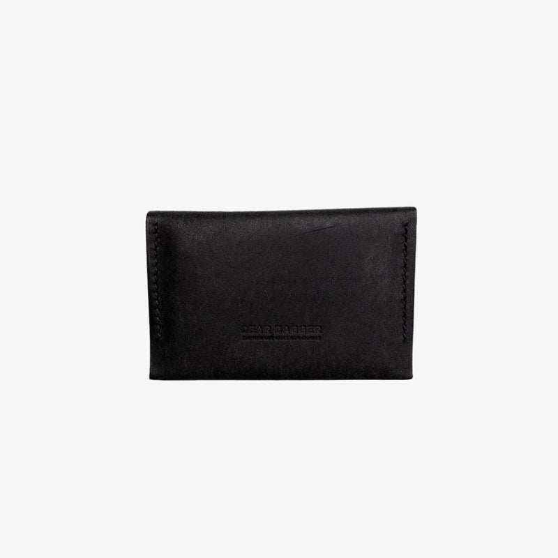 The Wanderer | Black and Black Thread Snap wallet Dear Dagger