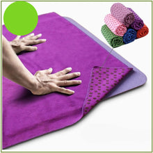 Load image into Gallery viewer, Anti Skid Microfiber Yoga Mat