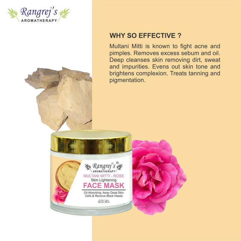 Rangrej's Aromatherapy Multani Mitti Rose Face Mask