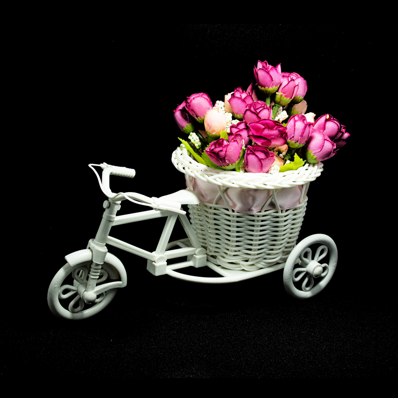 Artificial Peonies Flowers with Cycle shaped Vase