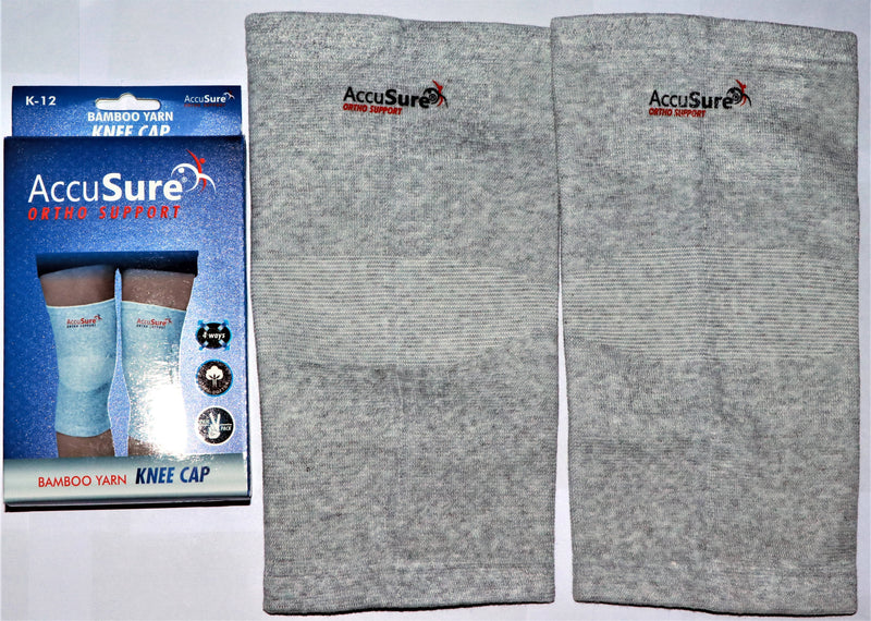 AccuSure Ortho Support Bambo Yarn Knee Cap 1 Pair