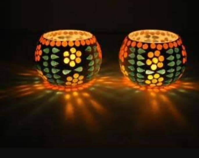 Tea-light Candle Holder set of two