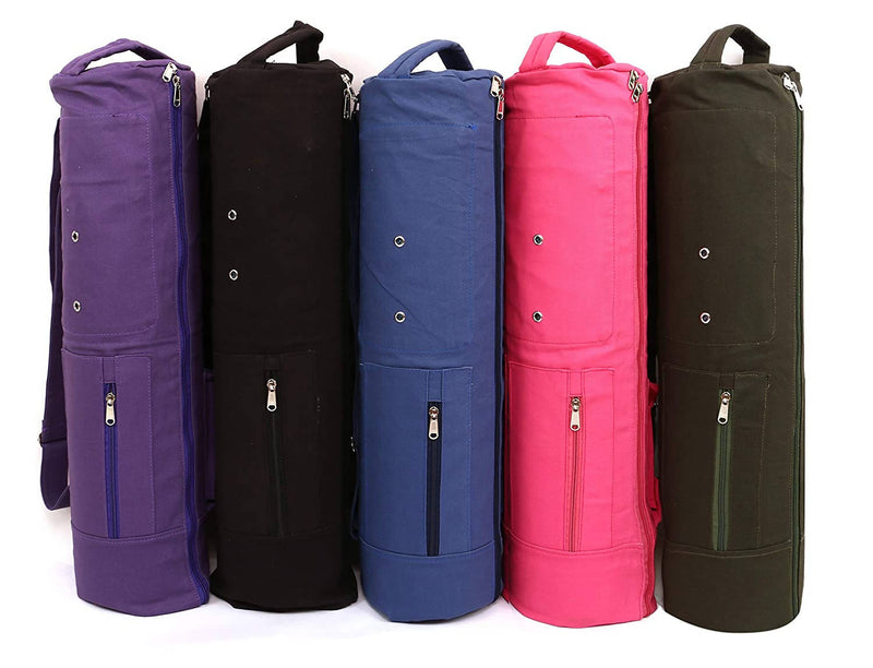 KD Yoga Bag MAT Cover Full Zip Carry Bag with Multiple Pockets and Adjustable Strap