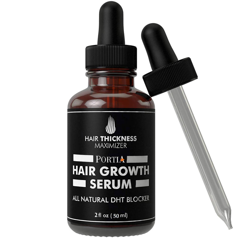 Portia Hair Growth Vitalizer Serum, with Argon & Jojaba oil for Hair Fall - Men & Women (50ml)