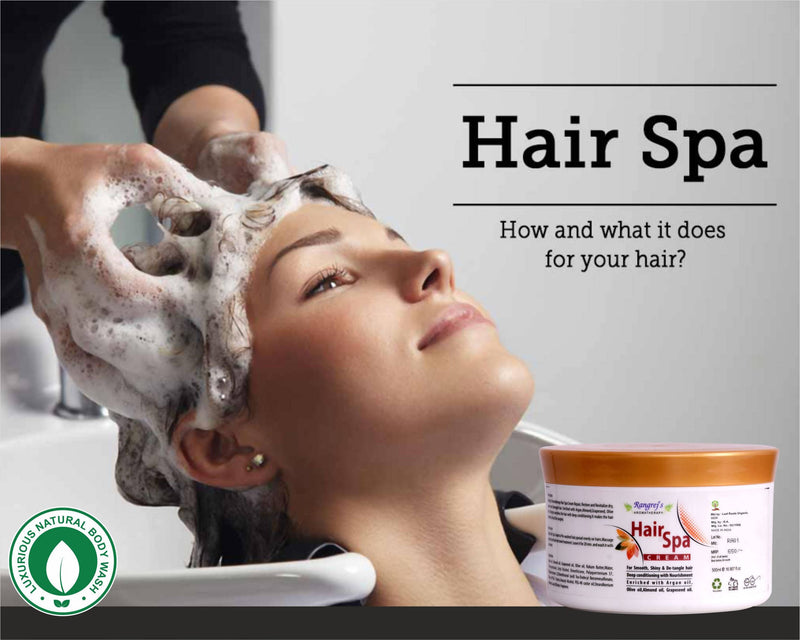 Rangrej's Aromatherapy Hair Spa with Olive oil, Almond oil and Grapeseed oil