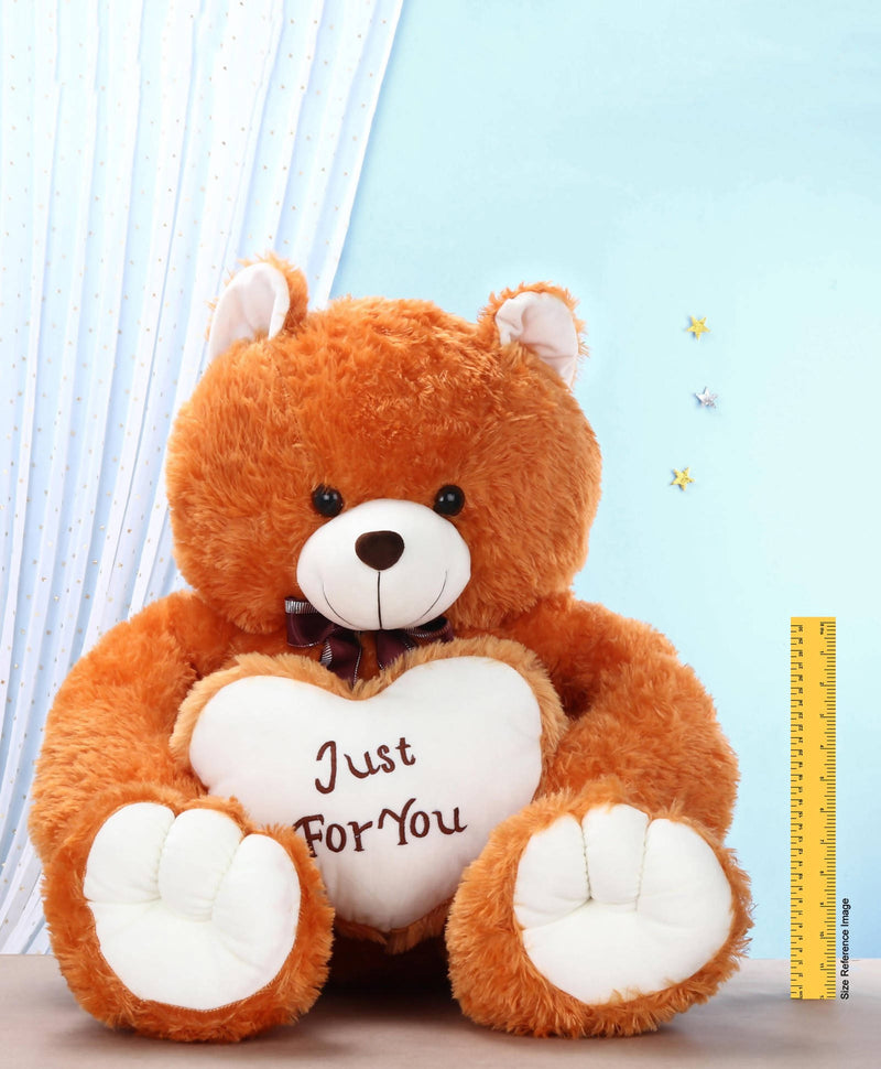 Big Teddy Bear with Bow & Heart Printed-100 CM