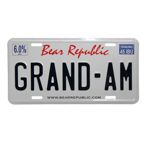 Grand-AM License Plate