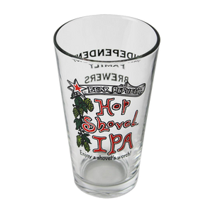 Hop Shovel Pint Glass