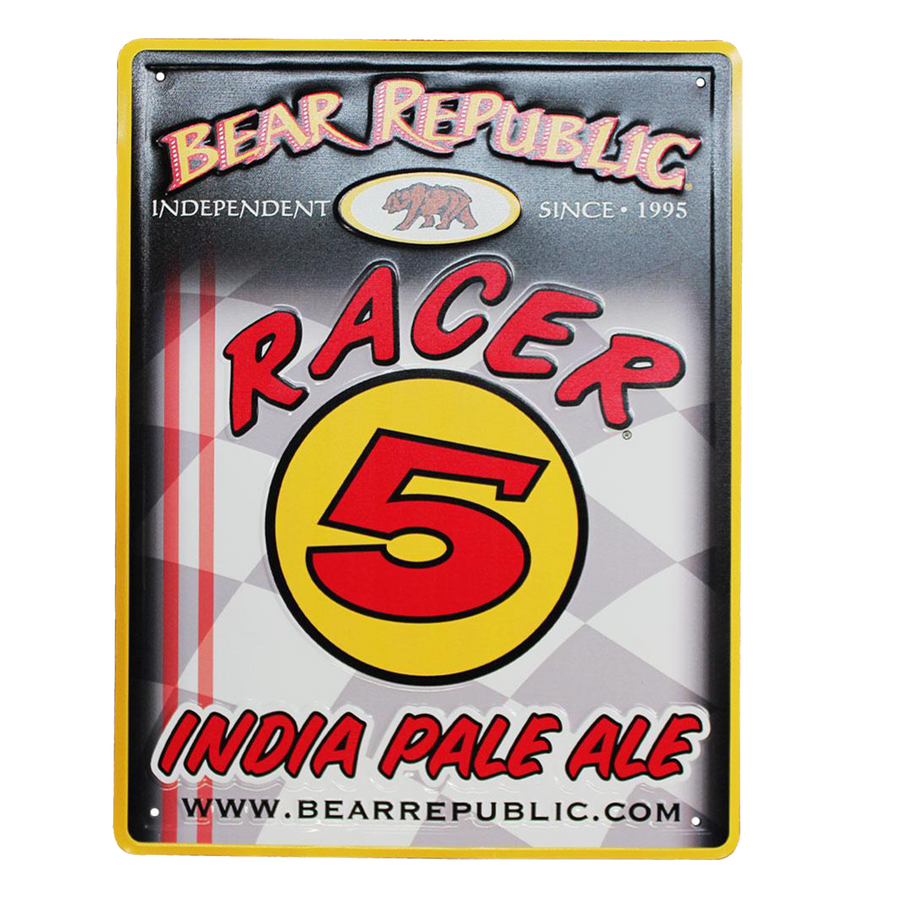Racer 5 Metal Sign