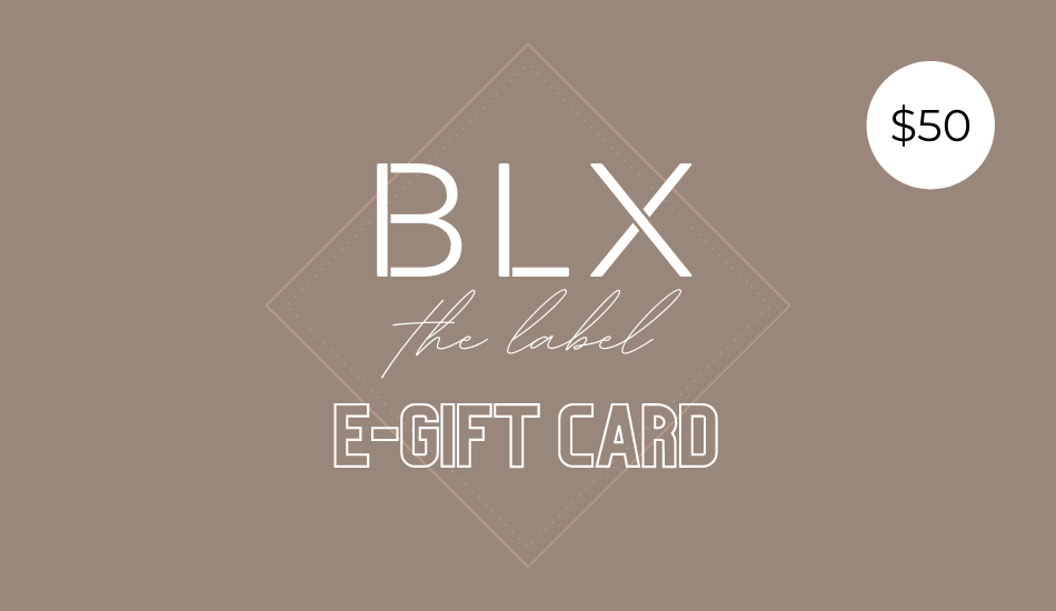 BLX the label gift card