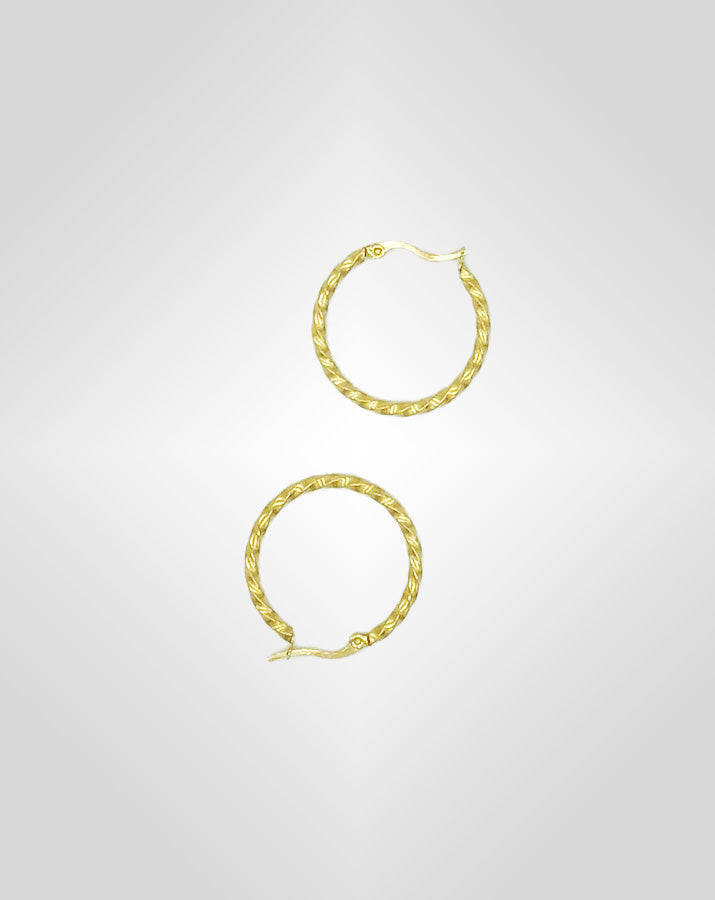 Ohrringe - MINI BRAID HOOPS - Gold