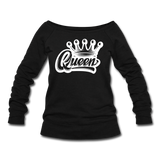 Queen Wideneck Sweatshirt - black