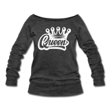 Queen Wideneck Sweatshirt - heather black
