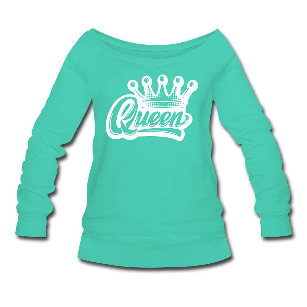 Queen Wideneck Sweatshirt - teal