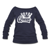 Queen Wideneck Sweatshirt - melange navy