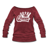 Queen Wideneck Sweatshirt - cardinal triblend