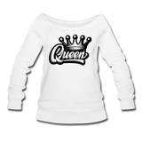 Queen Wideneck Sweatshirt - white