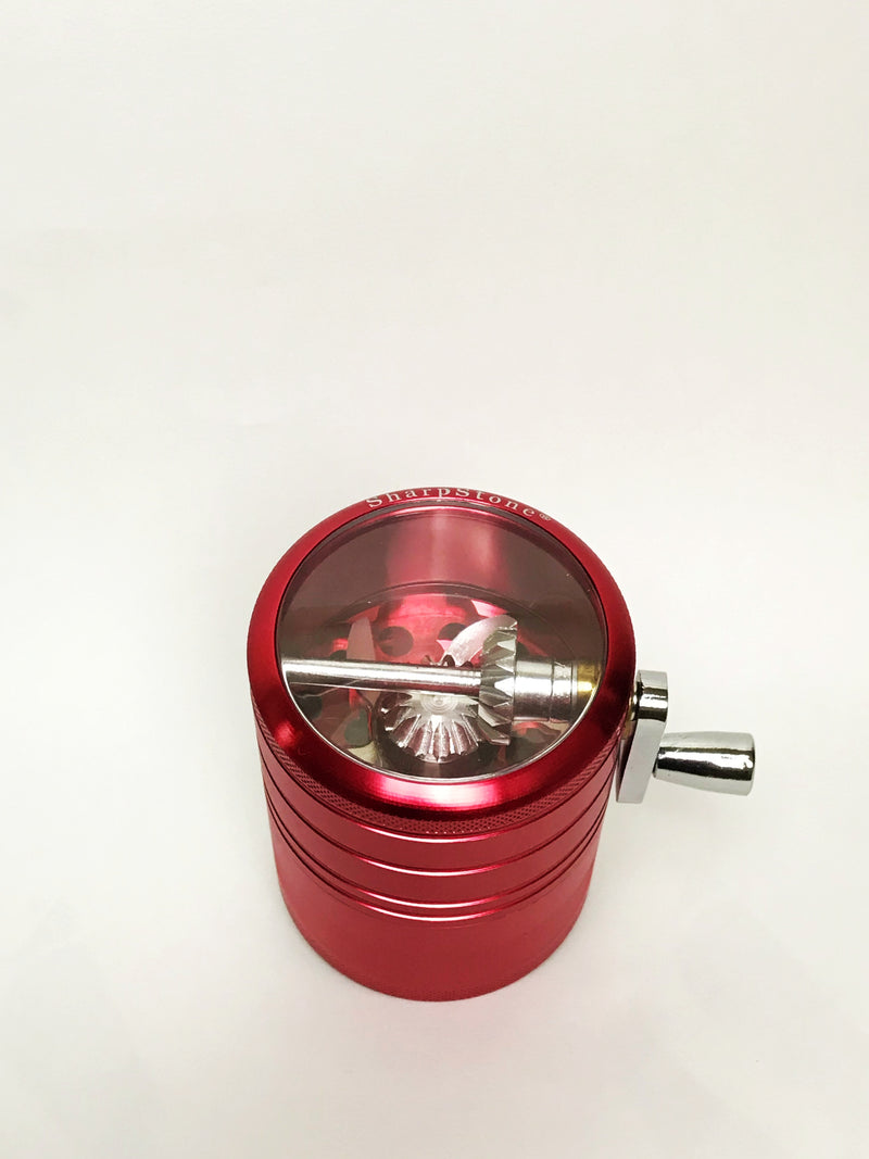 4 Layer Red Sharpstone Hand Crank Grinder