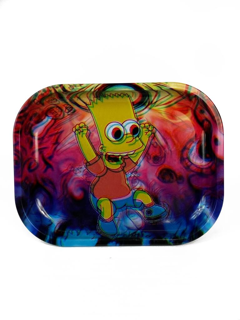 Trippy Bart Simpson Rolling Tray