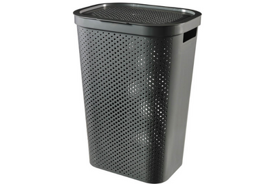 Curver Infinity Wasbox Antraciet | 60 liter - Plieng.nl