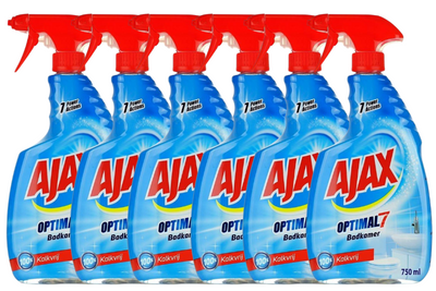 6-pack Ajax Badkamerspray Optimal 7 - Plieng.nl
