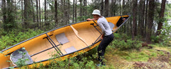 How to portage a canoe | tips for smaller people
