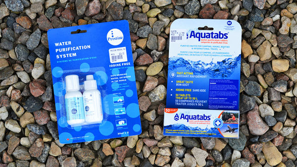 Aquatabs and Pristine water treatment systems