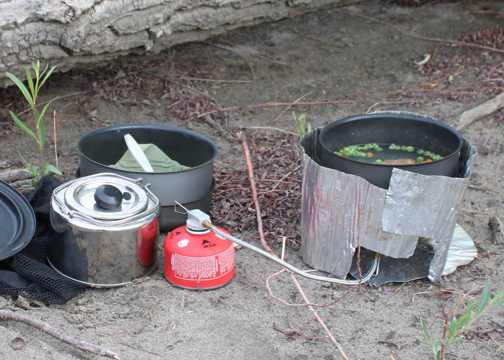 cooking soup with dehydrated veggies