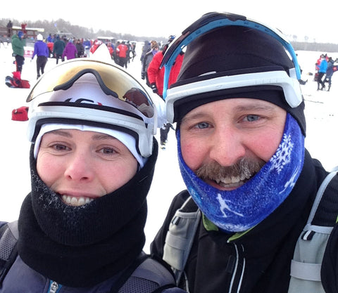 happy loppet skiers