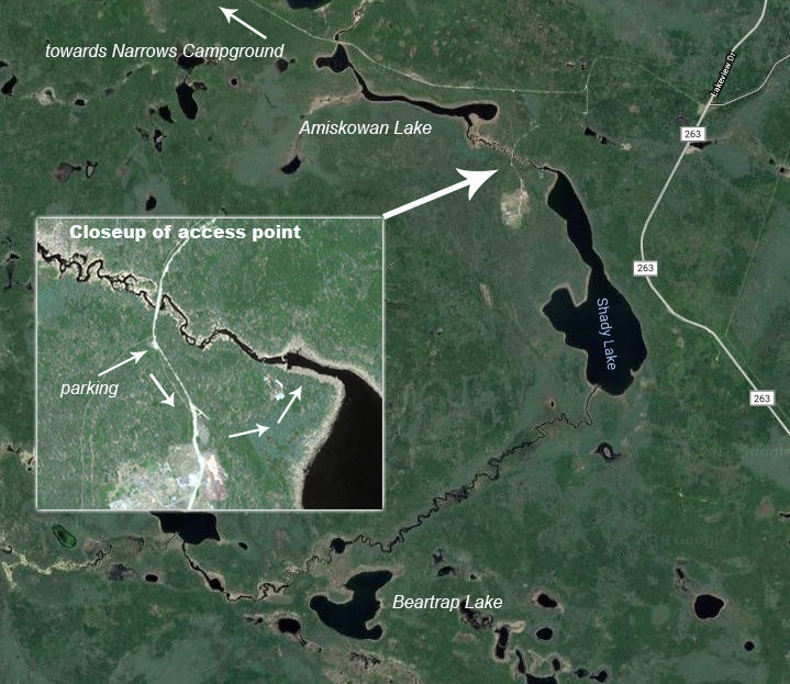 Map of Beartrap Lake Prince Albert National Park