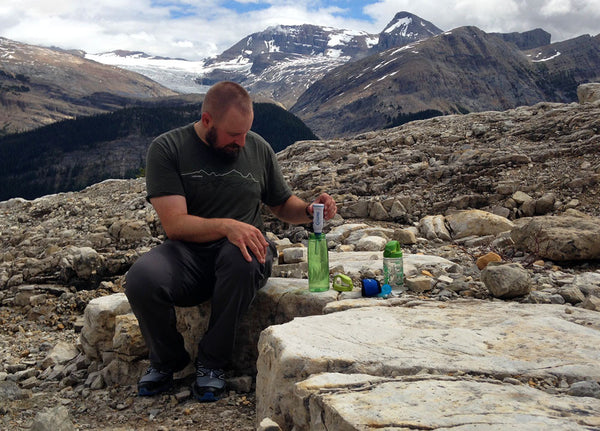 Using SteriPen in the Canadian Rockies