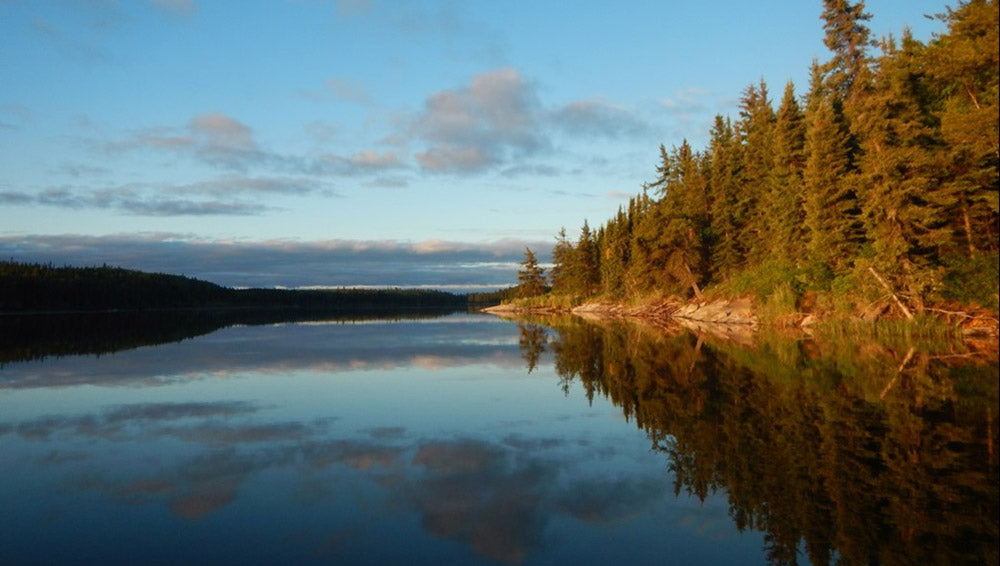 morning over a lake on the Churchill River
